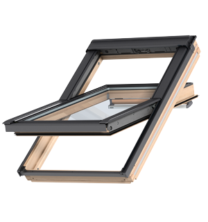 Center-pivot roof windows