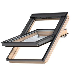 Center-pivot roof windows