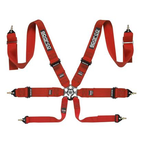 Sparco 6 Point Harness (Red, Blue, or Black)