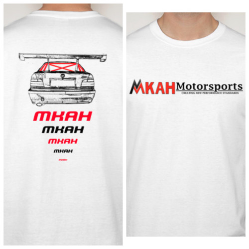 MKAH Motorsports Official T-shirt (white) + 2 Decals