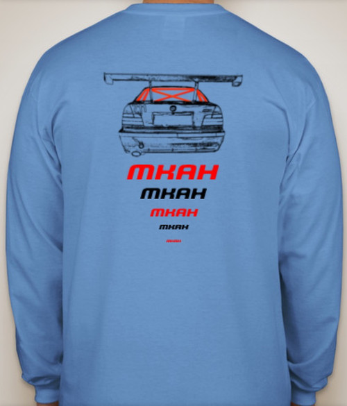 Official MKAH Motorsports Long Sleeve T-shirt (blue) + 2 Decals