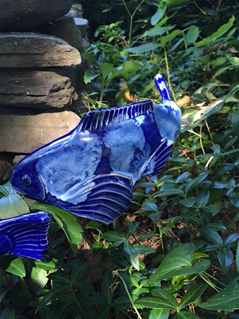 Small Koi - cobalt blue