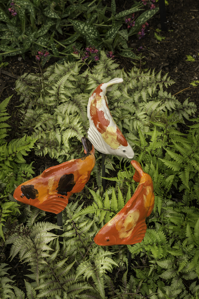 Set of 3 small koi fish in the garden llc for Small koi fish