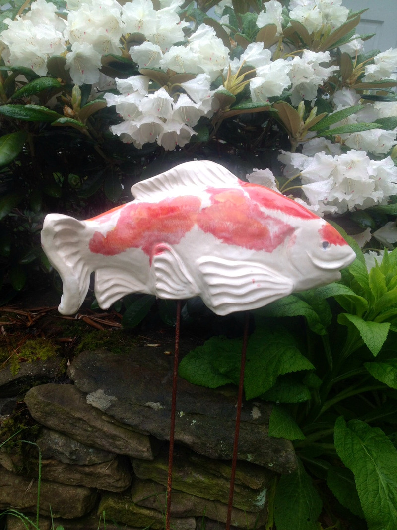Ceramic fish Garden art