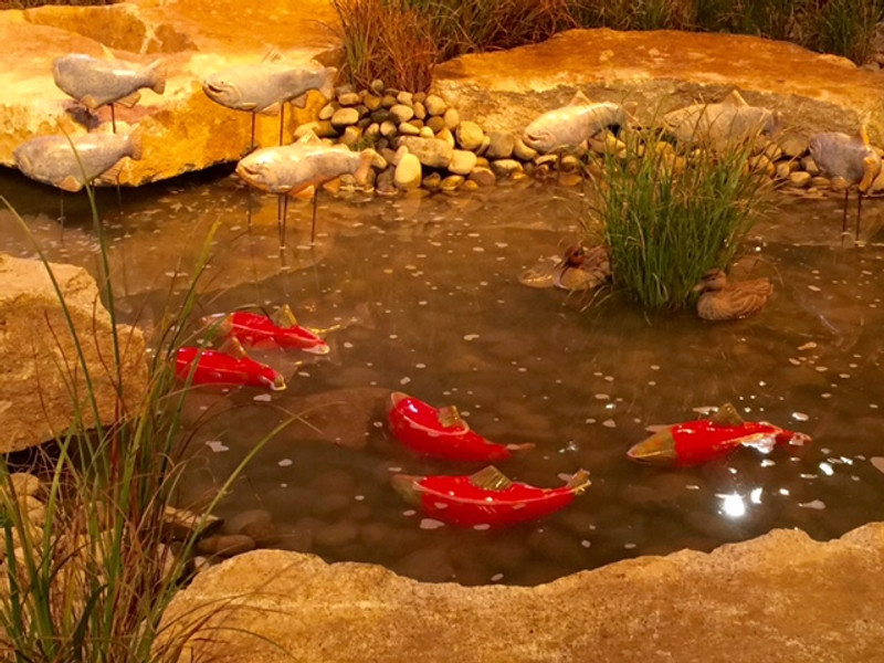Sockeye Salmon Garden Art (sold individually)