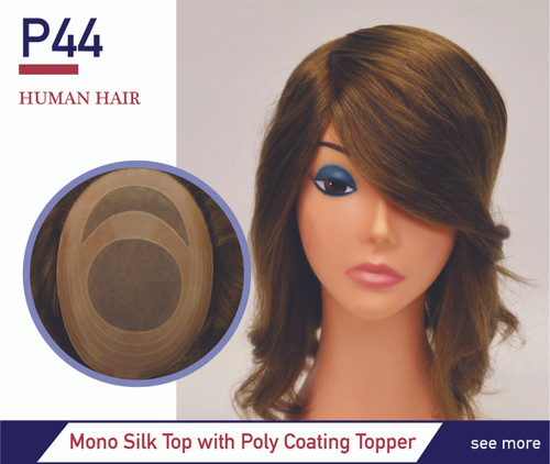 P44 Mono Silk Top Cut Away Lady's Top Hairpiece