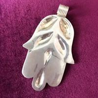 Antique Solid Silver Hamsa Hand 2