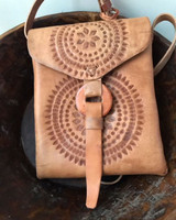 Rayo De Sol Mexican Hand tooled leather cross body bag