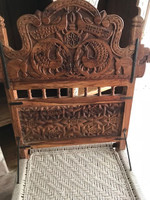 Antique Hand Carved Indian Pida Chair