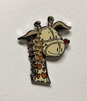 """Stretch 1 1/4"""" size cloisonné pin Butterfly clutch"""