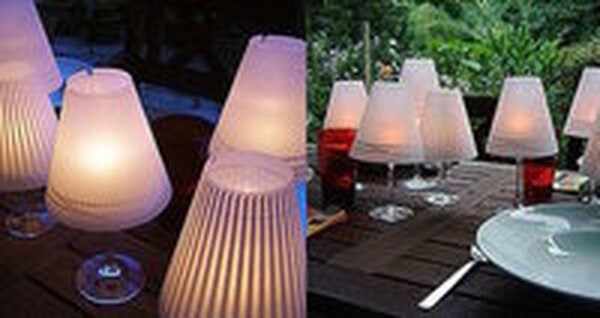 ​DIY Lighting - How to make wine glasses into mini table lamps!
