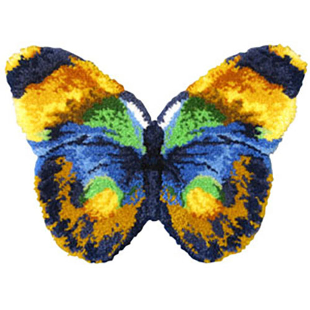 Butterfly Shaped Latch Hook Rug Kit