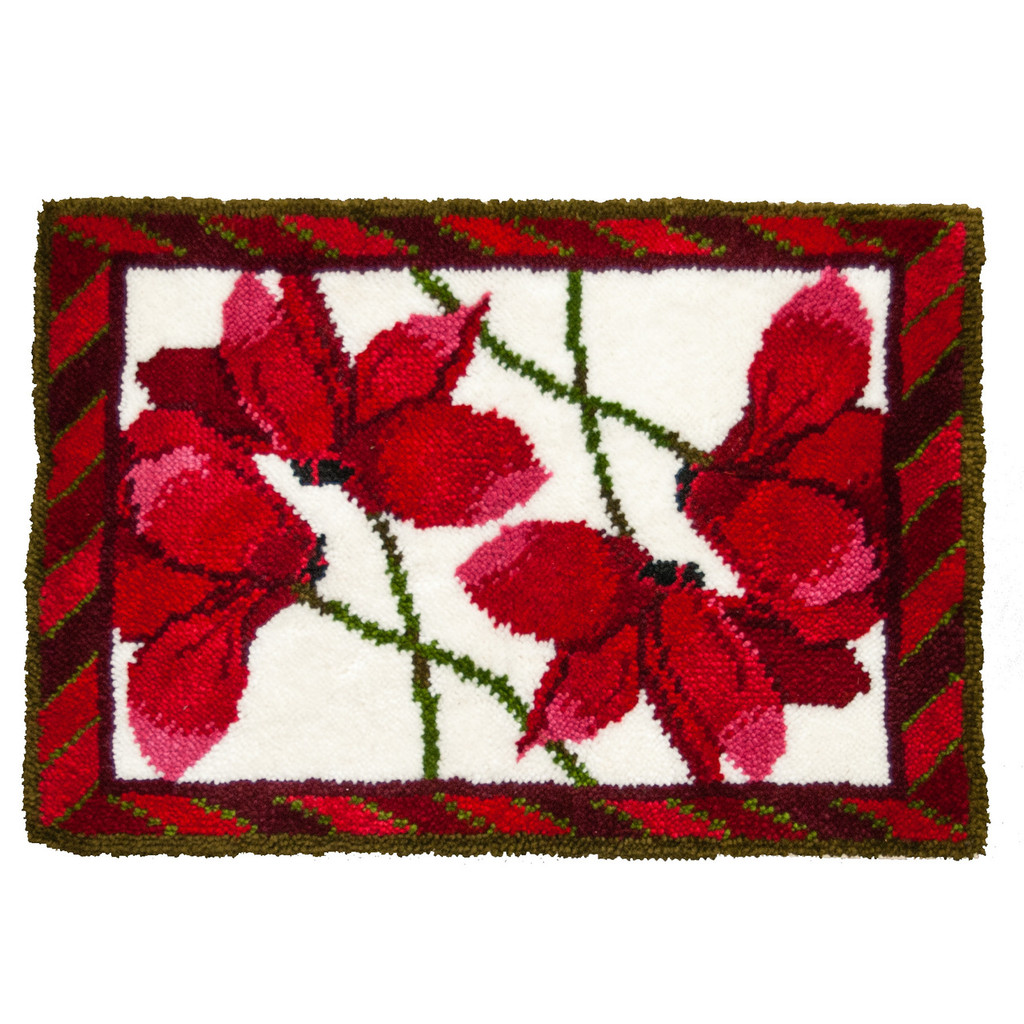 Cyclamen Latch Hook Rug Kit