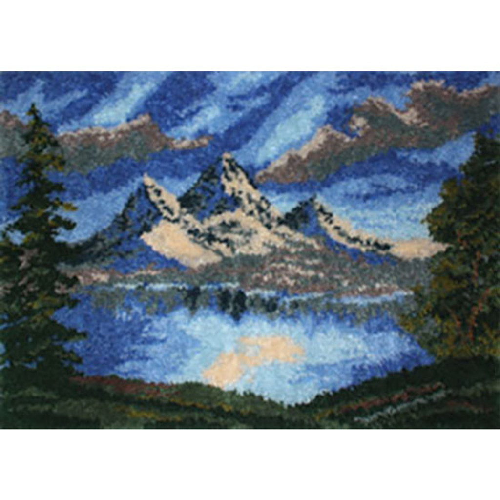 Mountain Lake Latch Hook Rug Kit