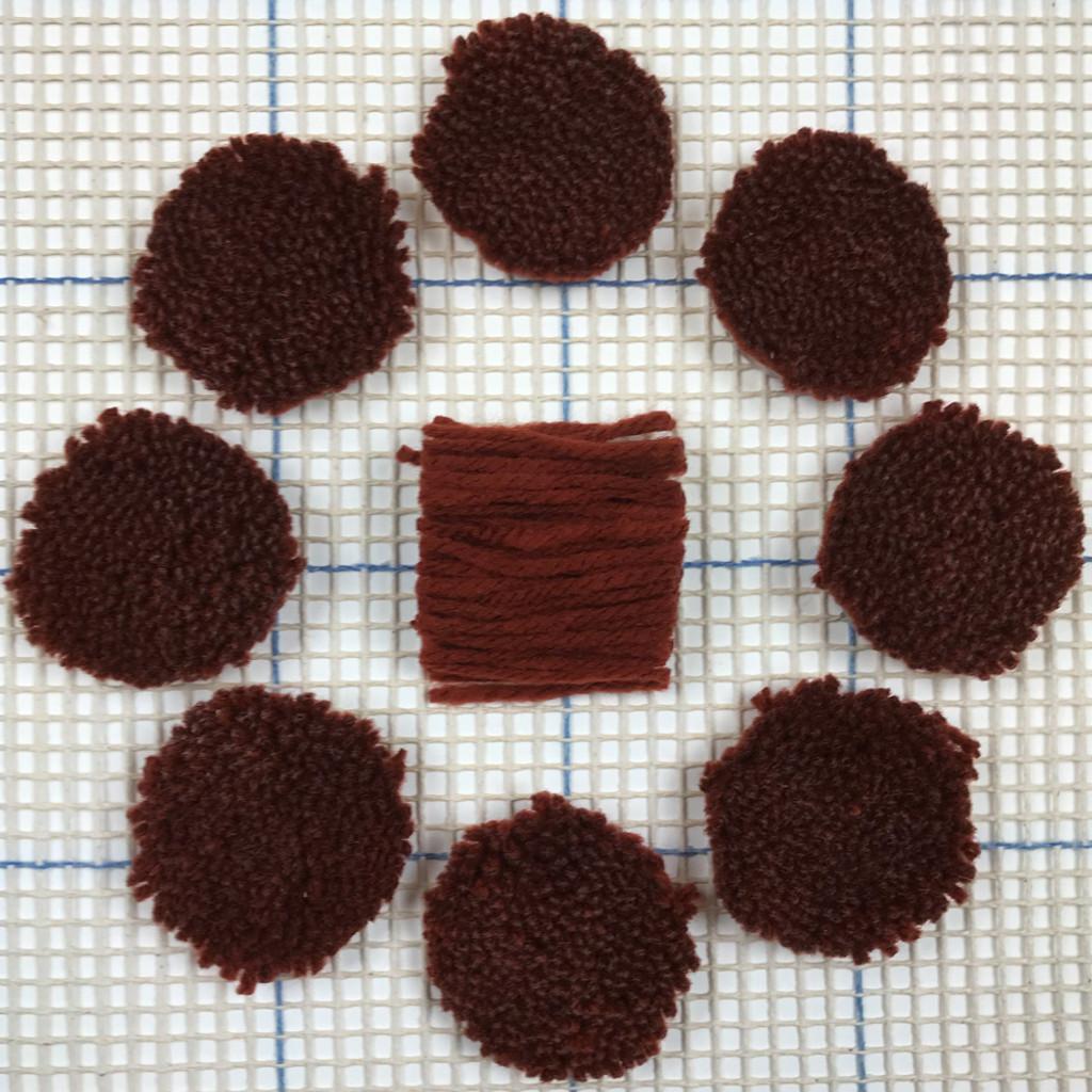 Rust Pre-cut Latch Hook Yarn