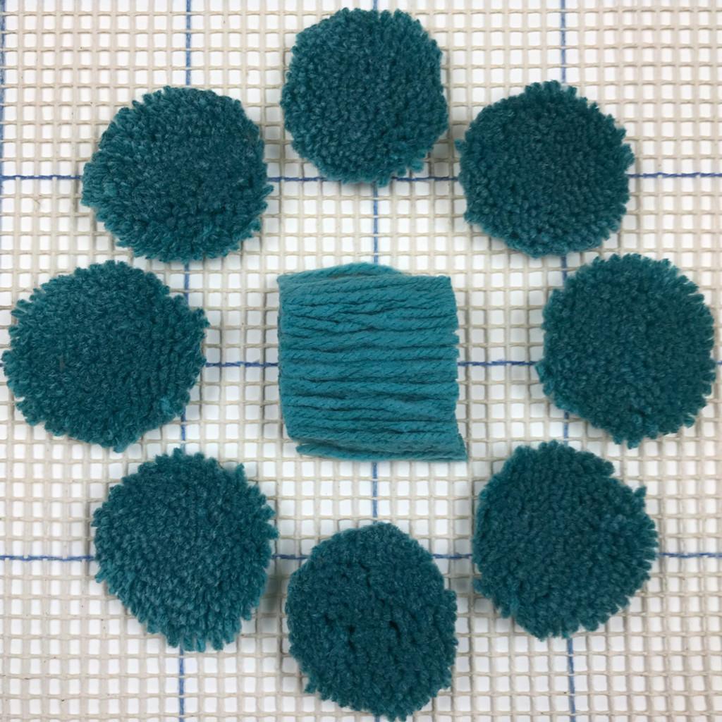 Turquoise Pre-cut Latch Hook Yarn
