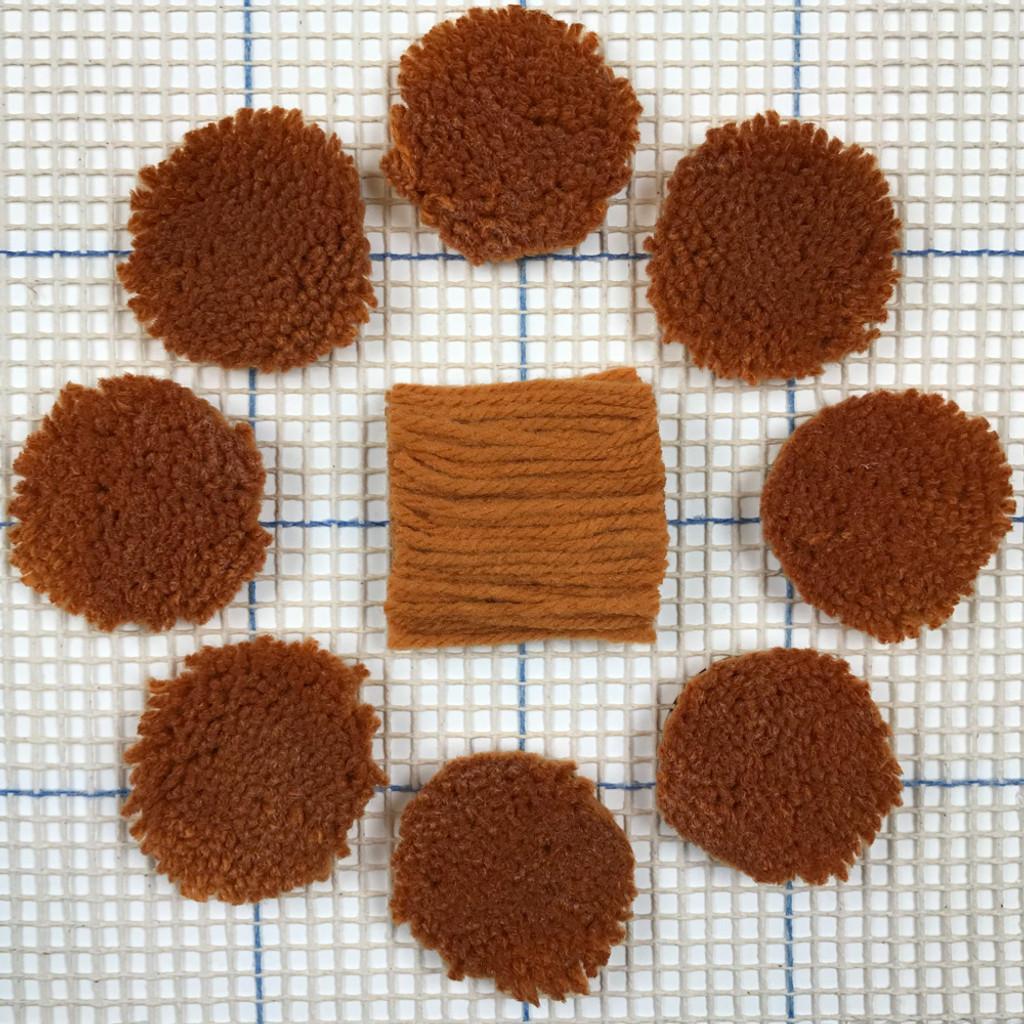 Dark Gold Pre-cut Latch Hook Yarn