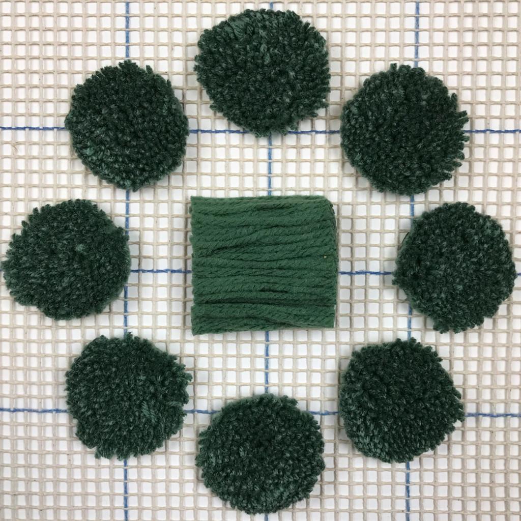 True Green Pre-cut Latch Hook Yarn