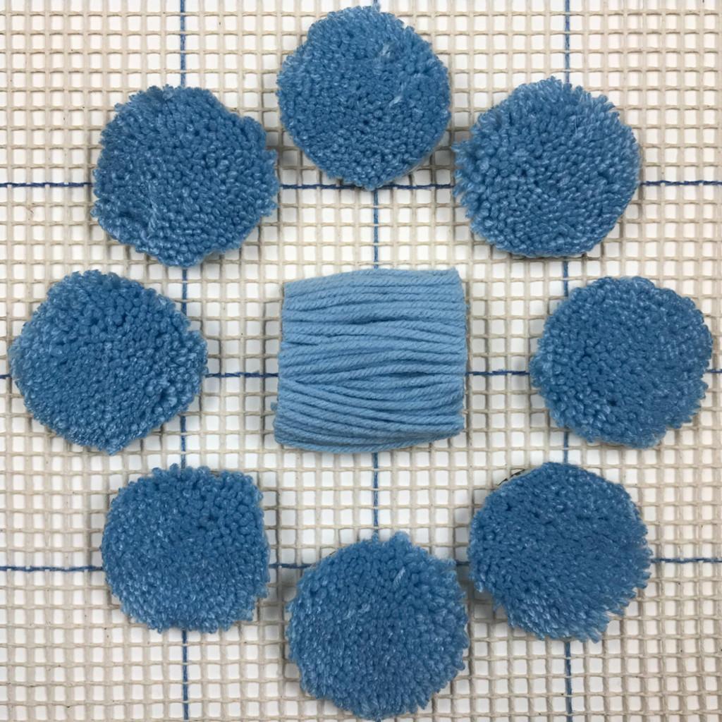 Light Blue Pre-cut Latch Hook Yarn