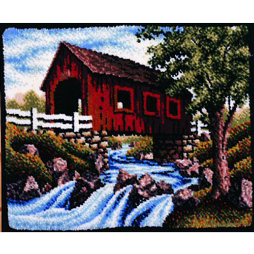 Covered Bridge Latch Hook Rug Kit