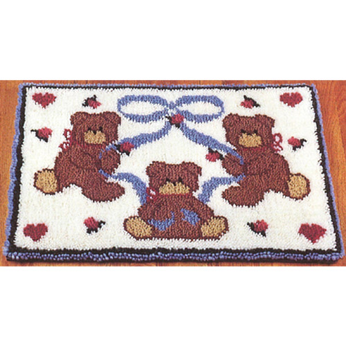 Bears and Hearts Latch Hook Rug Kits