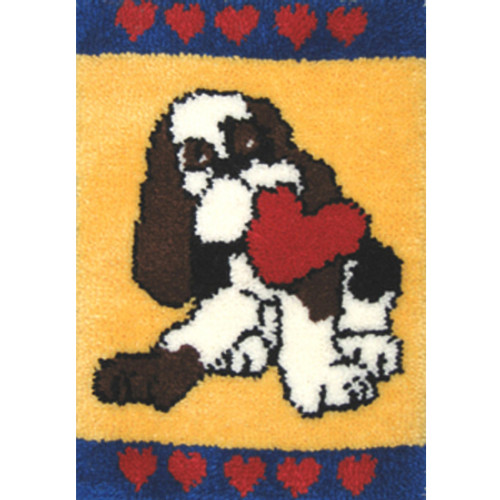 Puppy Love Latch Hook Rug Kit