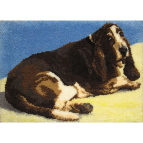 Basset Hound Latch Hook Rug Kit