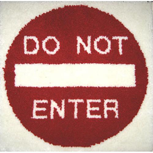 Do Not Enter Latch Hook Rug Kit