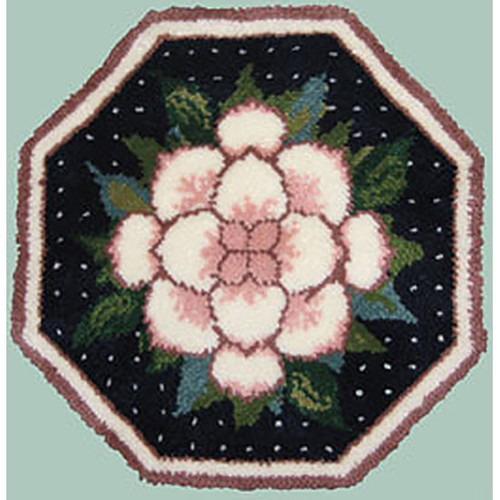Magnolia Octagon Latch Hook Rug Kit