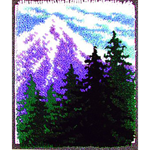 Mountain Pines Latch Hook Rug Kit