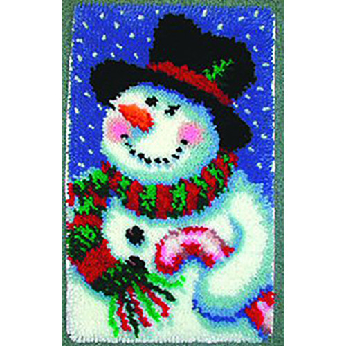 Jolly Snowman Latch Hook Rug Kit