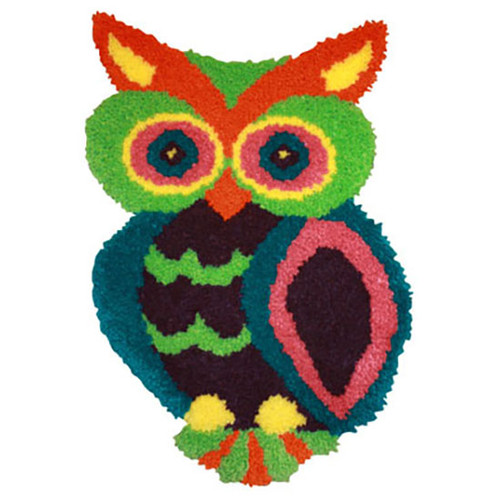 Owl Shaped Latch Hook Rug Kit