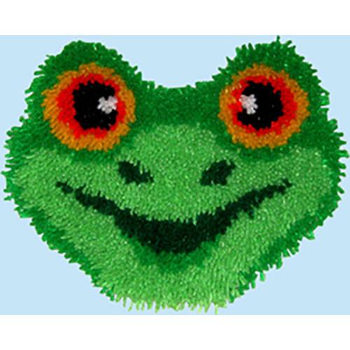 Frog Latch Hook Pillow Kit