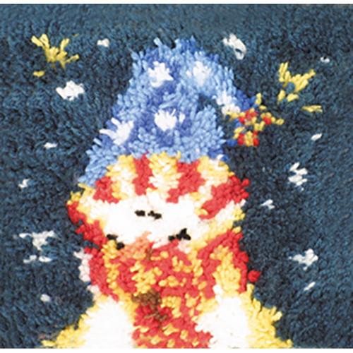 Snowman Latch Hook Pillow Kit