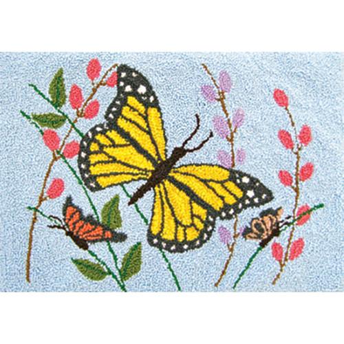 Butterflies Punch Needle Rug Kit