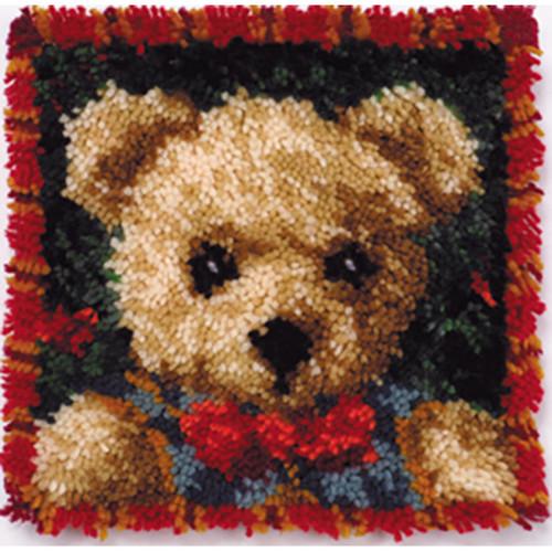 Boy Bear Latch Hook Pillow Kit