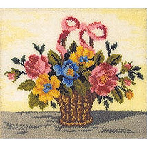 Floral Basket Latch Hook Rug Kit