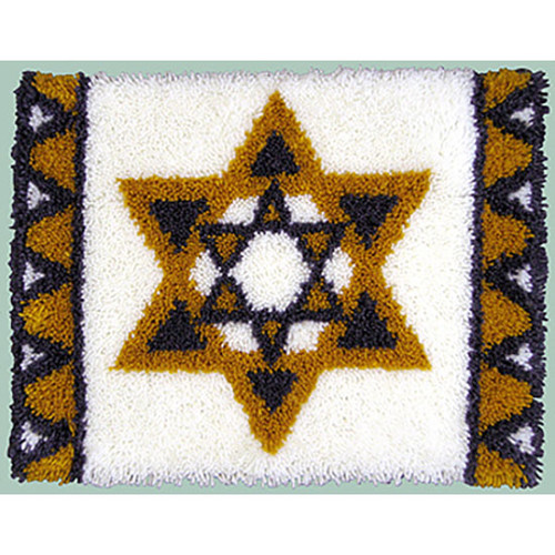 Star of David Wall Hanging Latch Hook Kit
