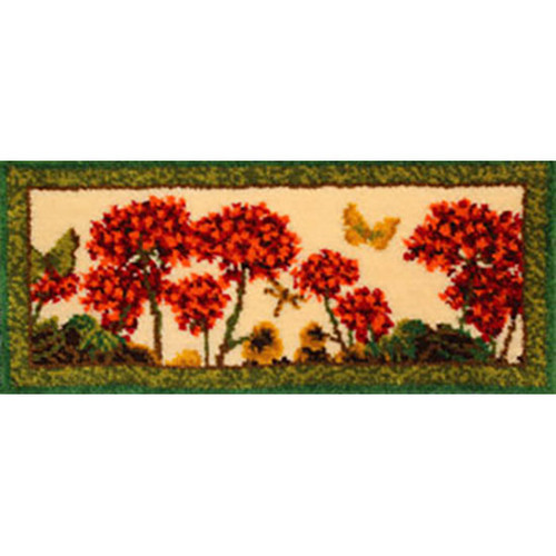 Geraniums Latch Hook Rug Kit