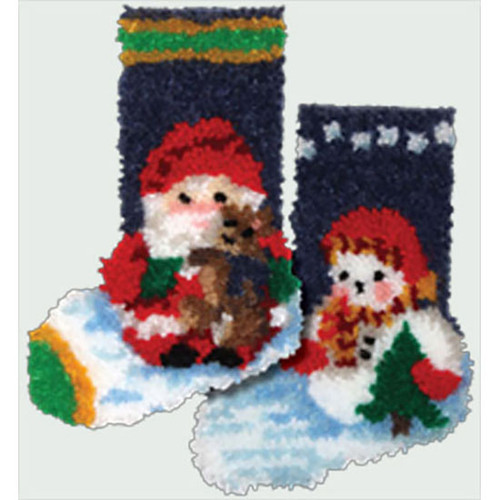 Mini Latch Hook Christmas Stockings set