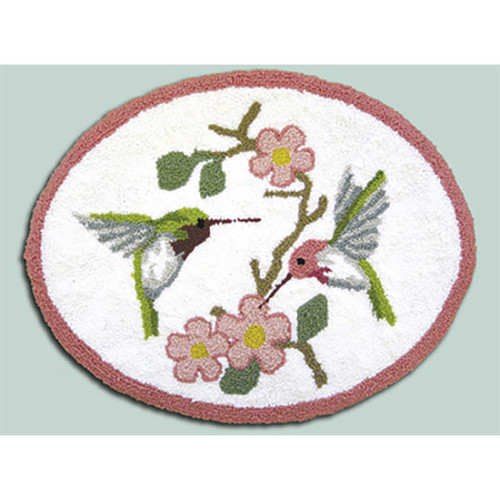 Hummingbird Punch Needle Rug Kit