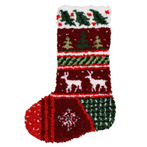 Winter Bands Latch Hook Christmas Stocking Kit