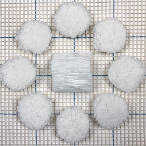 White Pre-cut Latch Hook Rug Yarn