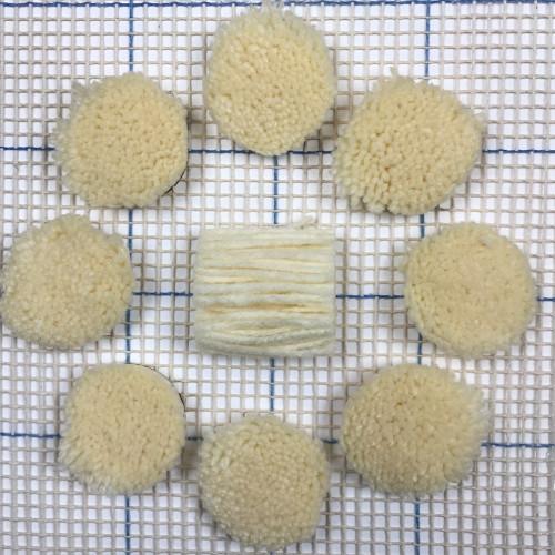 Ivory Pre-cut Latch Hook Yarn