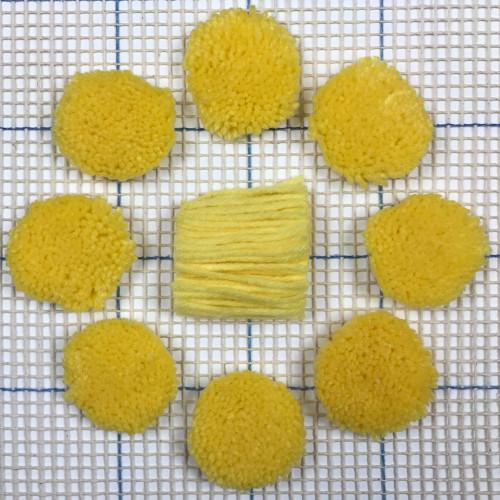 Yellow Pre-cut Latch Hook Yarn