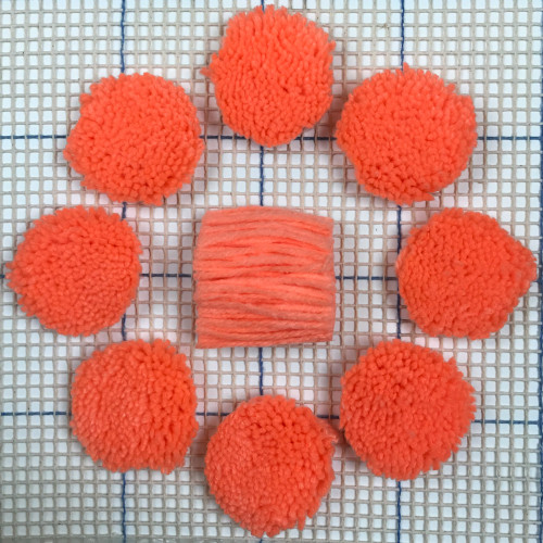 Salmon Pre-cut Latch Hook Yarn