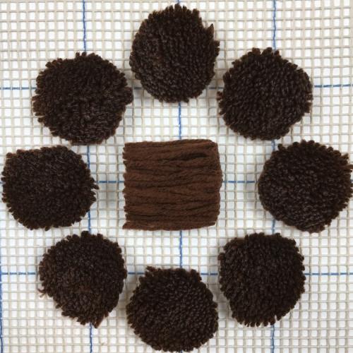 Dark Rust Pre-cut Latch Hook Yarn