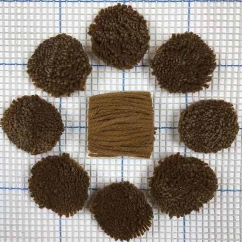 Medium Brown Pre-cut Latch Hook Yarn
