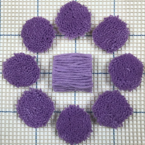 Lavender Pre-cut Latch Hook Yarn