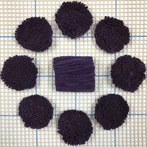 Purple Pre-cut Latch Hook Yarn